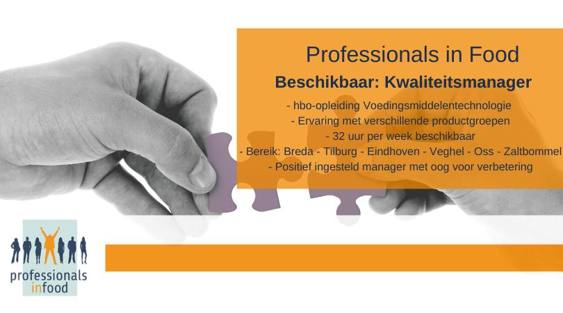 Kandidaatpresentatie Kwaliteitsmanager Noord Brabant