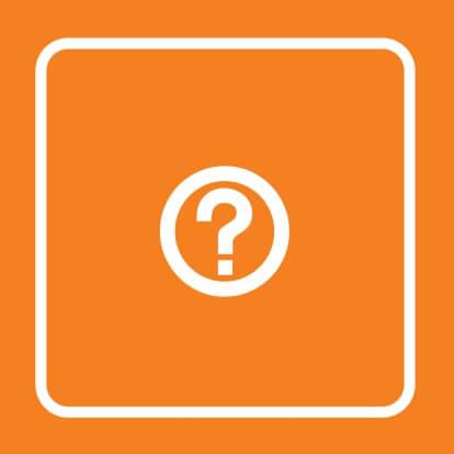 Icoonkaart Vraagteken Oranje